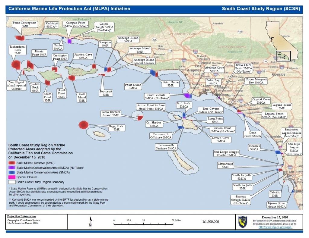 Southern California Beach Map – Town-Seek Inside Map Of Southern - Southern California State Parks Map