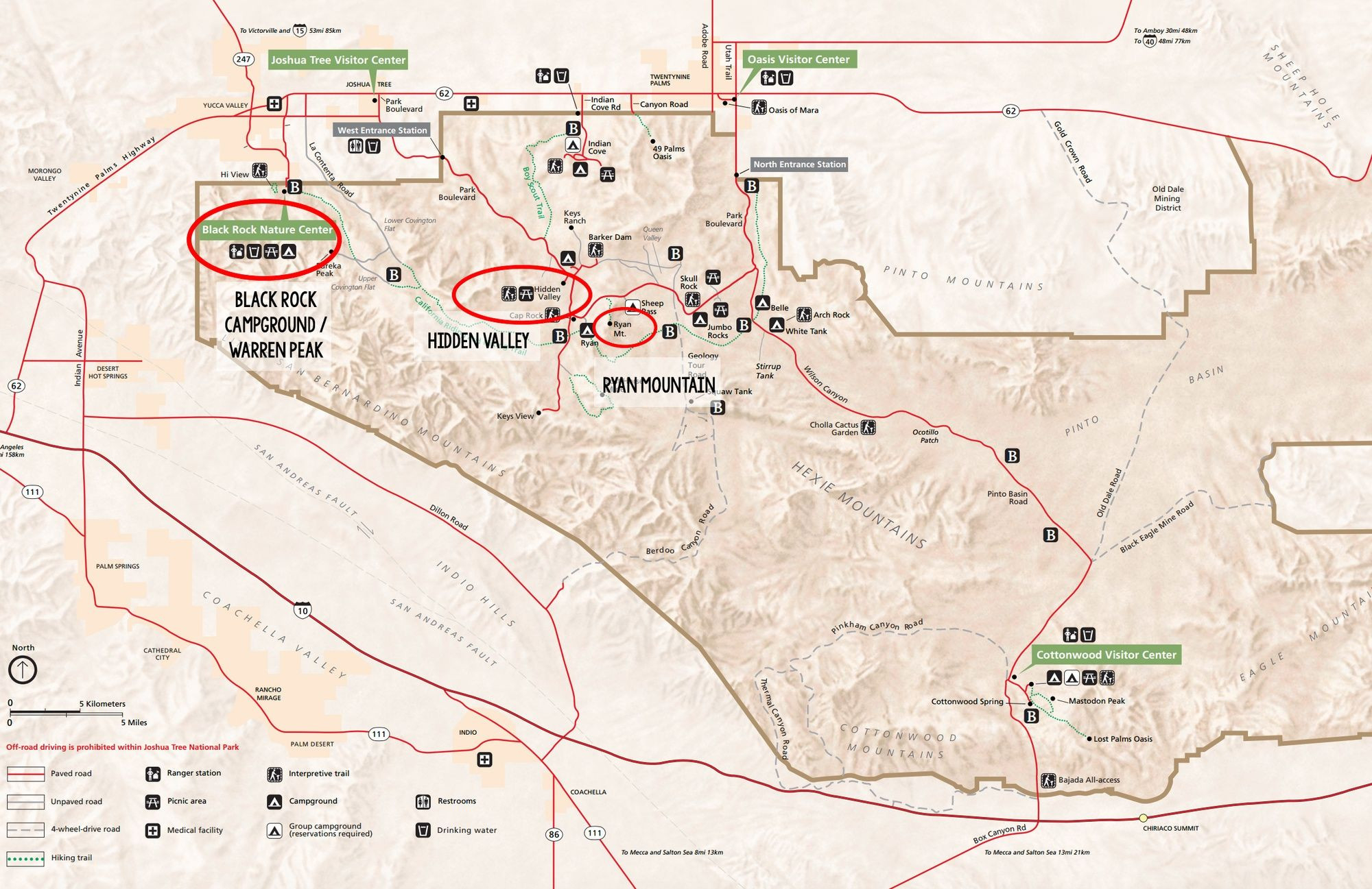 Southern California Camping Map New Best Joshua Tree Hikes For First - Southern California Campgrounds Map
