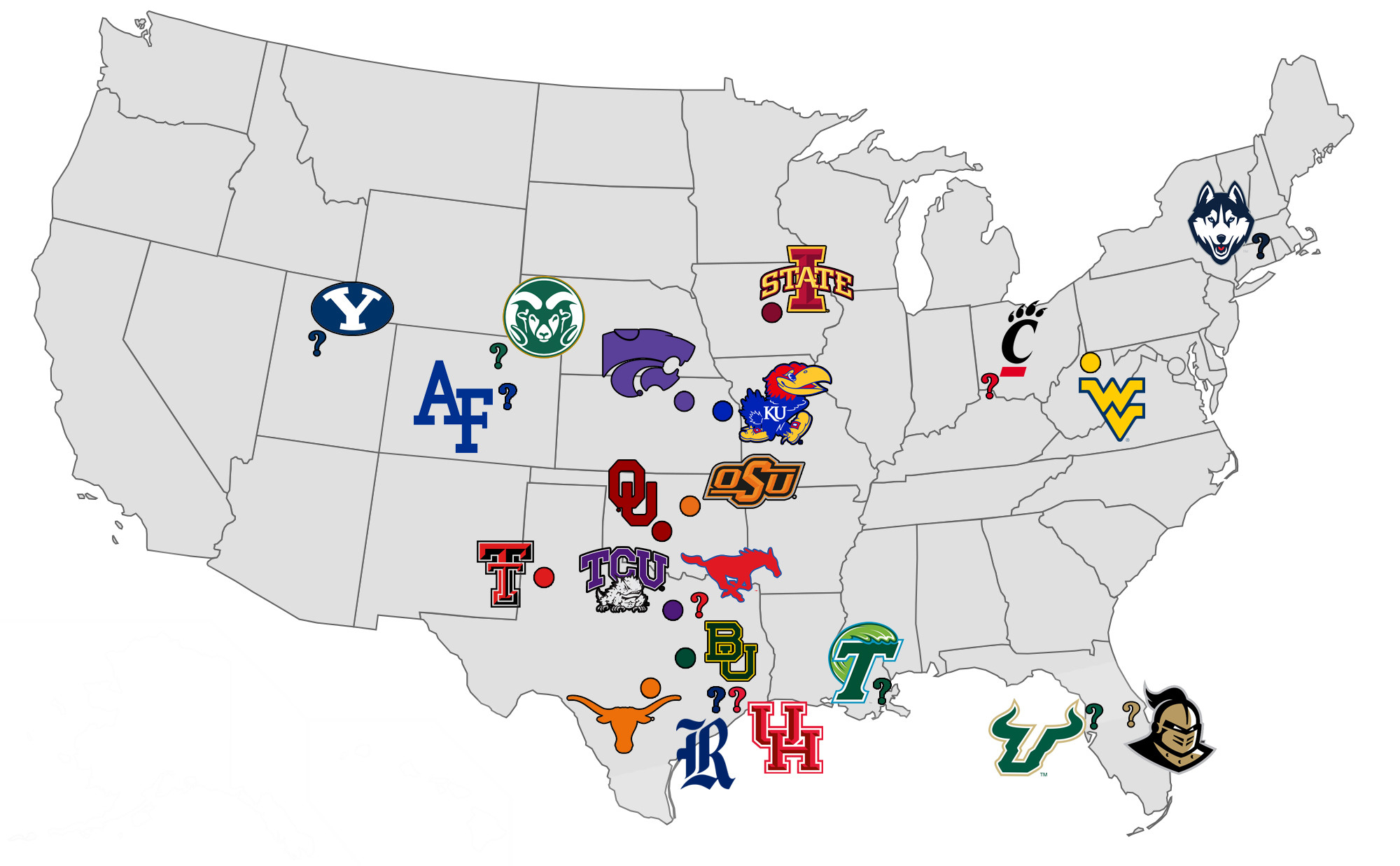 Southern California Colleges Map Reference College Sports Who S Left - Colleges In California Map