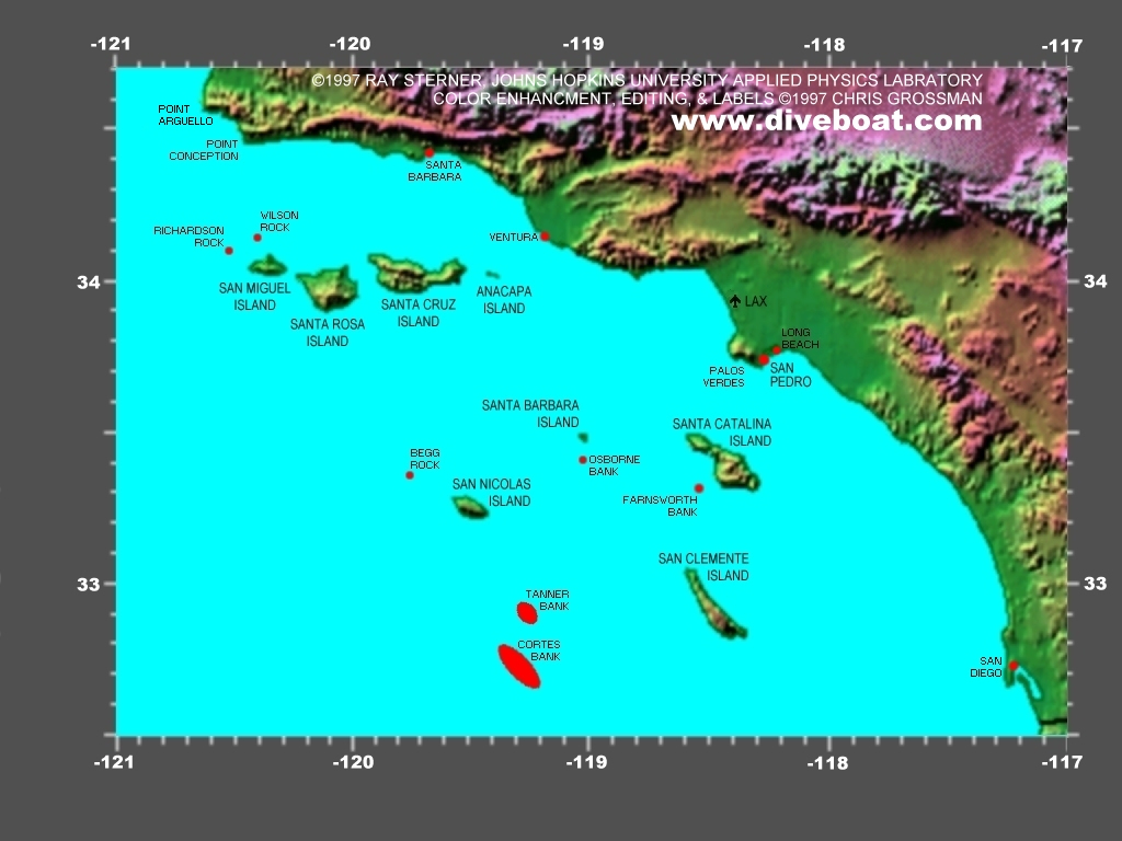Southern California Dive Destination Map X California State Map - California Destinations Map