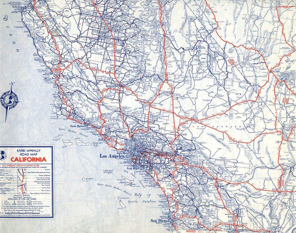 Southern California Map Pdf - Klipy - California Road Map Pdf