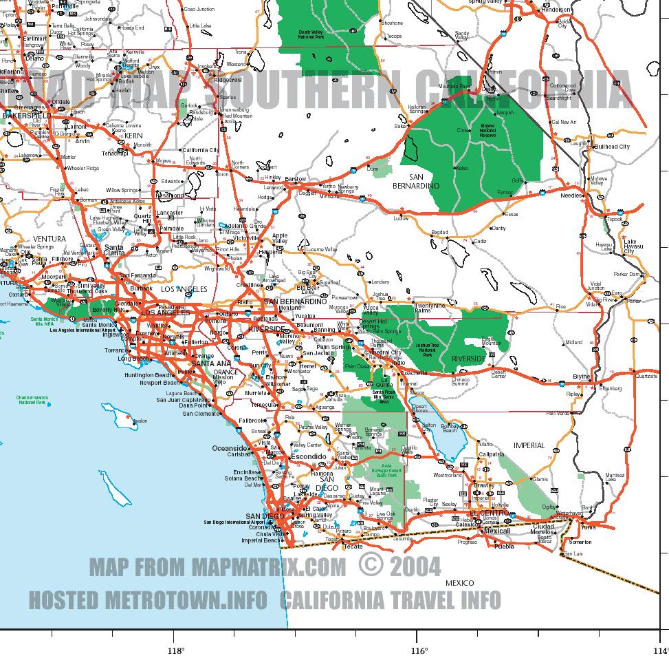 Southern California Road Ma Map Of California Springs Map Of Irvine - Irvine California Map