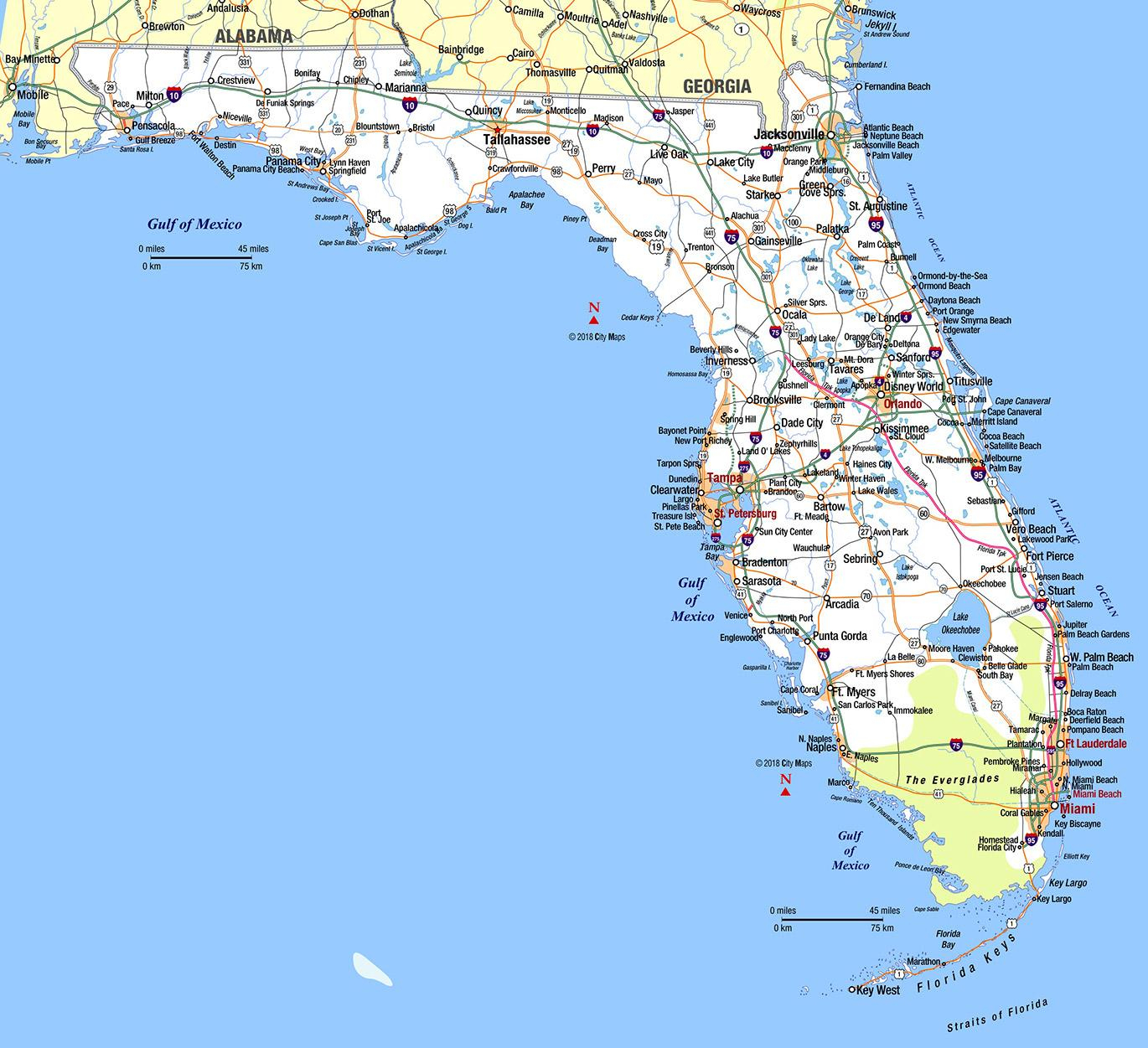 Southern Florida - Aaccessmaps - Map Of Sw Florida Cities