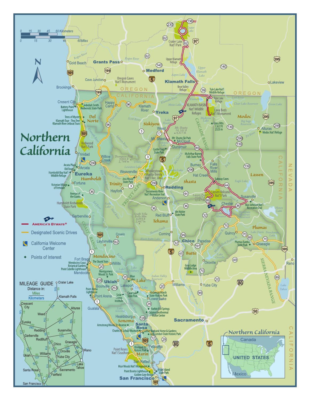 Southern Oregon - Northern California Mapshasta Cascade - Map Of Northern California And Oregon