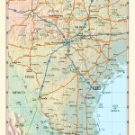 Southern Texas Wall Map   Maps   South Texas Cities Map