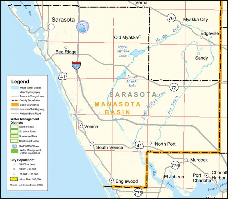 Map Of Sarasota Florida Area
