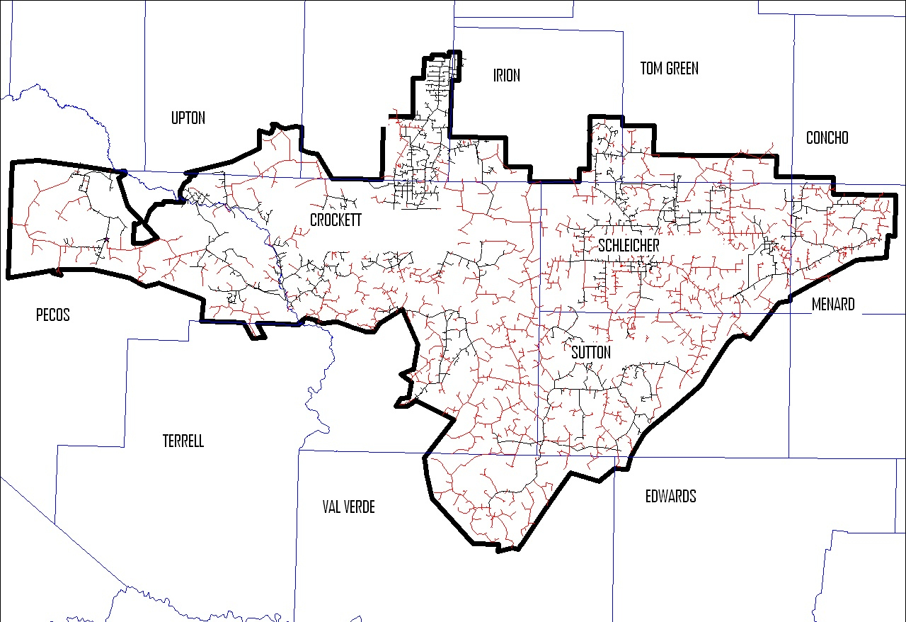Southwest Texas Electric Cooperative | A Touchstone Energy Cooperative - Texas Electric Cooperatives Map
