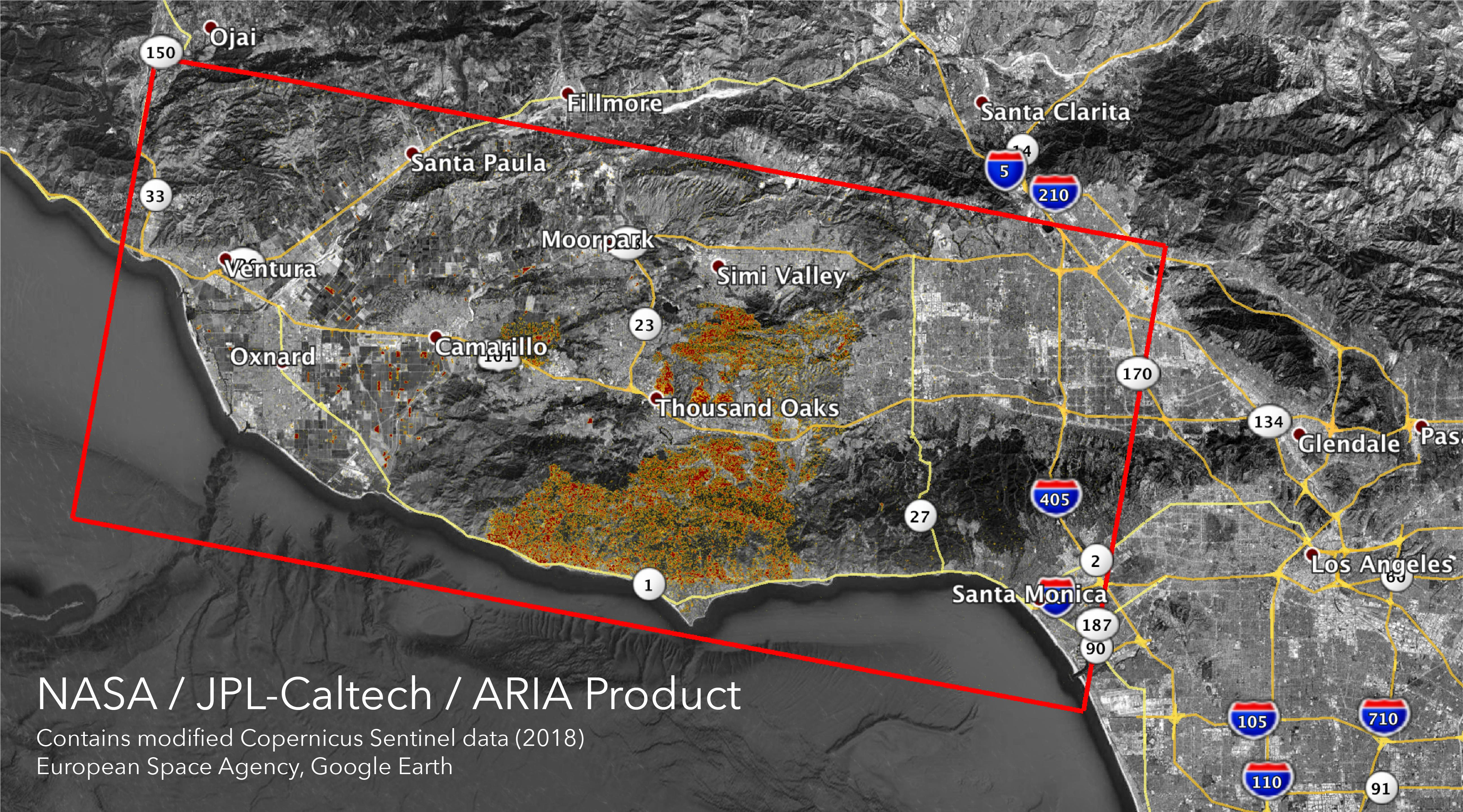 Space Images | Nasa's Aria Maps California Fire Damage - Map Of California Fire Damage