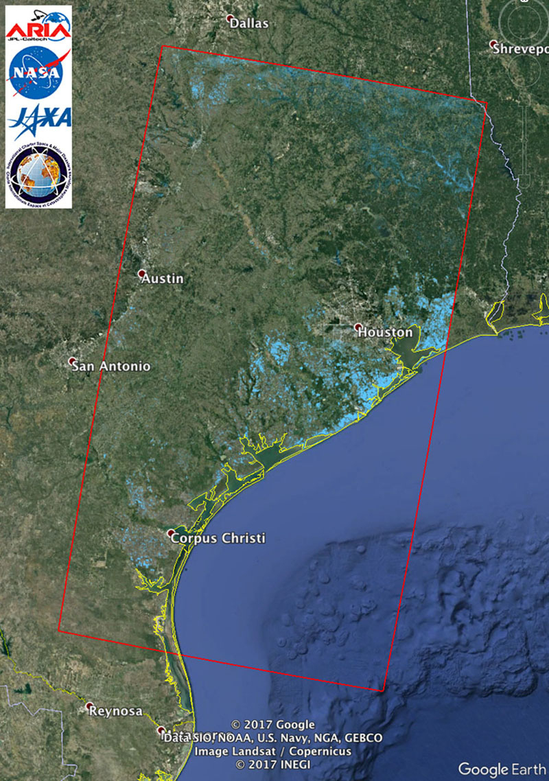 Space Images | Updated Nasa Satellite Flood Map Of Southeastern - Google Satellite Map Of Texas