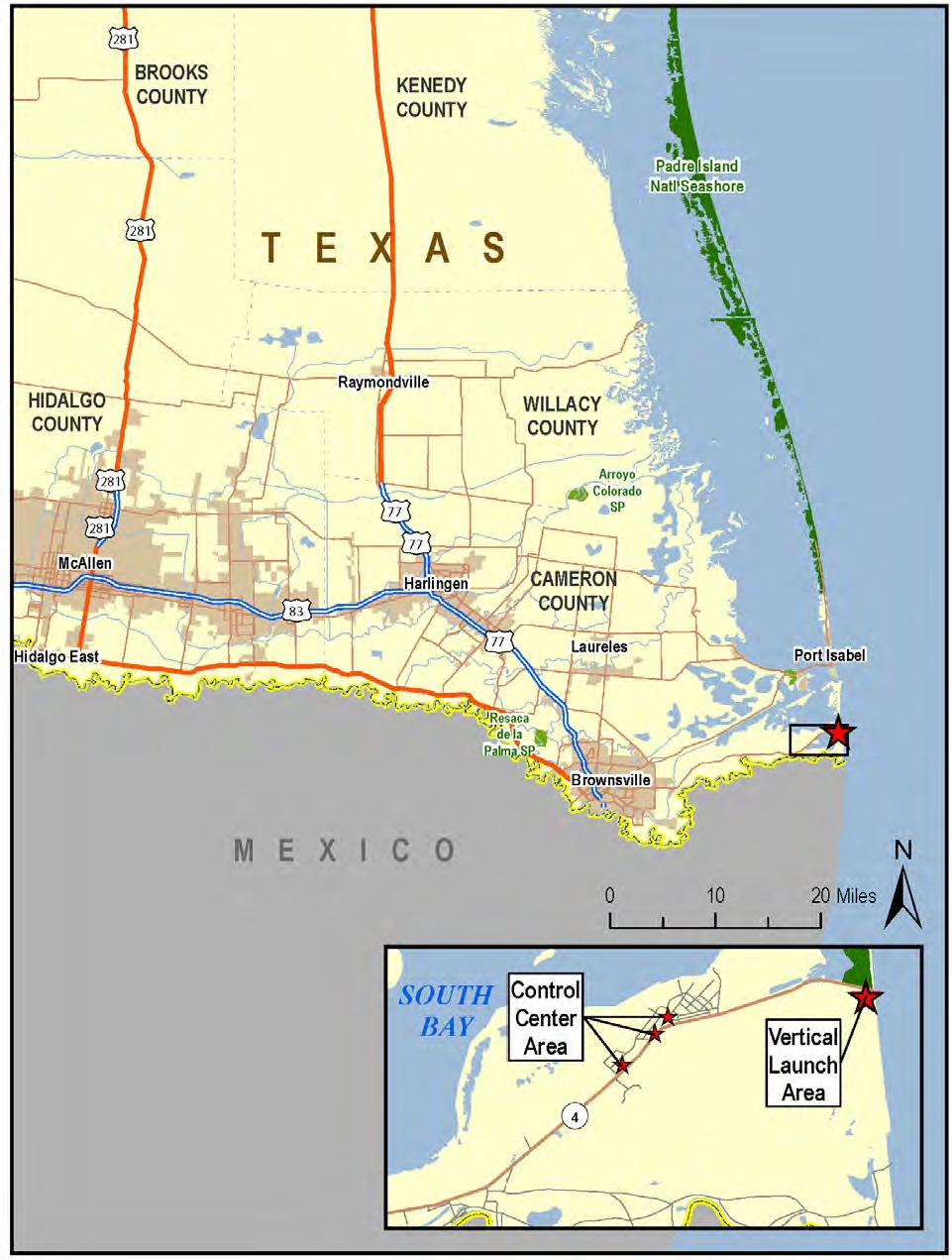 Spacex South Texas Launch Site - Wikipedia - Brownsville Texas Map Google