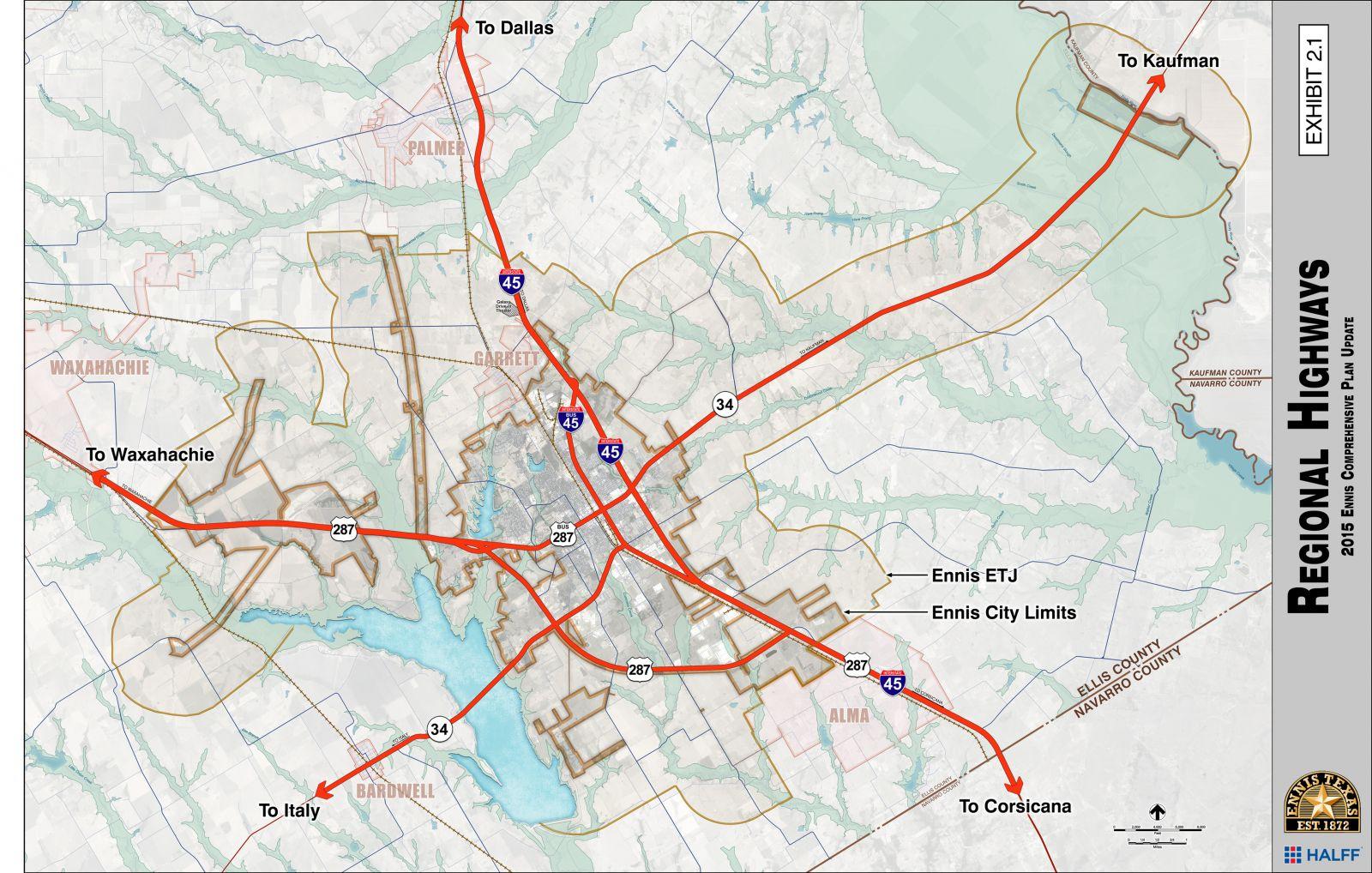 Special Development Districts & Boards   Ennis Tx   Economic - Ennis Texas Map