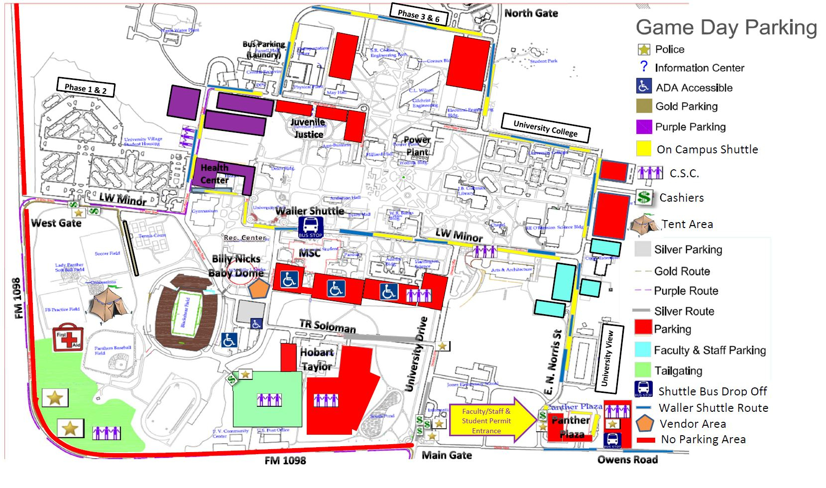 Special Events Parking - Auxiliary Services - University Of Texas Football Parking Map 2016