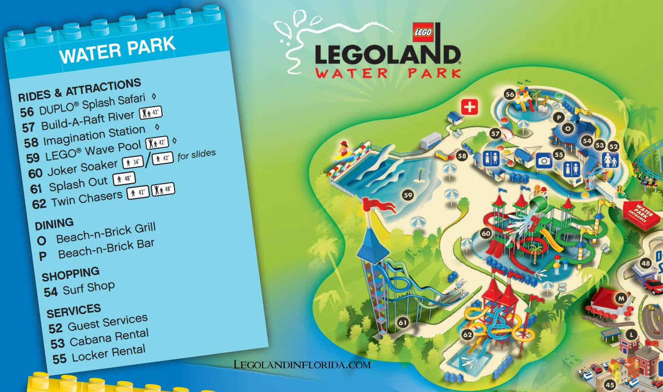 Splash Along To Legoland Florida Water Park - Legoland In Florida - Legoland Map Florida