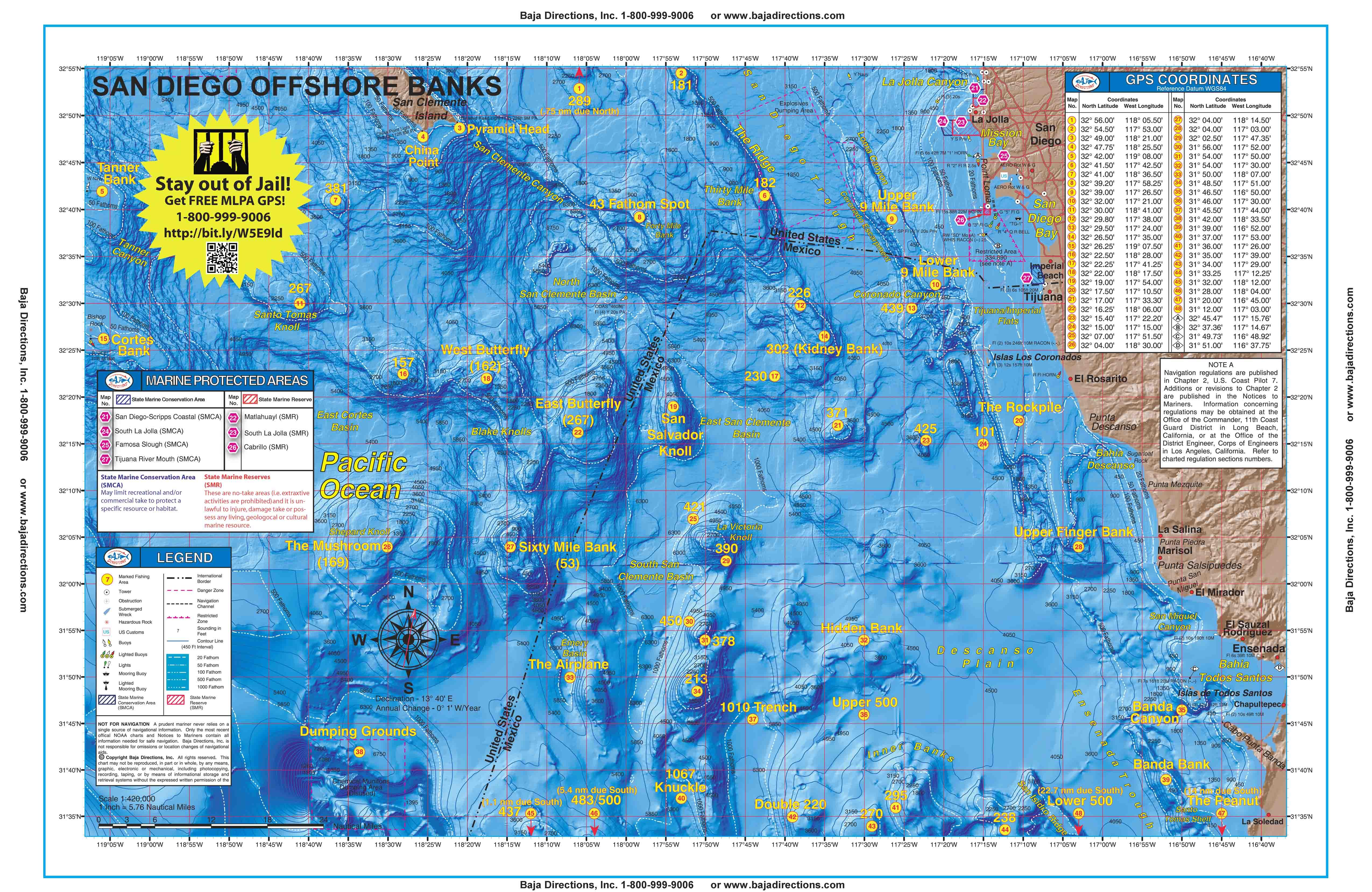 Sportfishing Atlas Southern California Edition - Baja Directions - Southern California Fishing Map