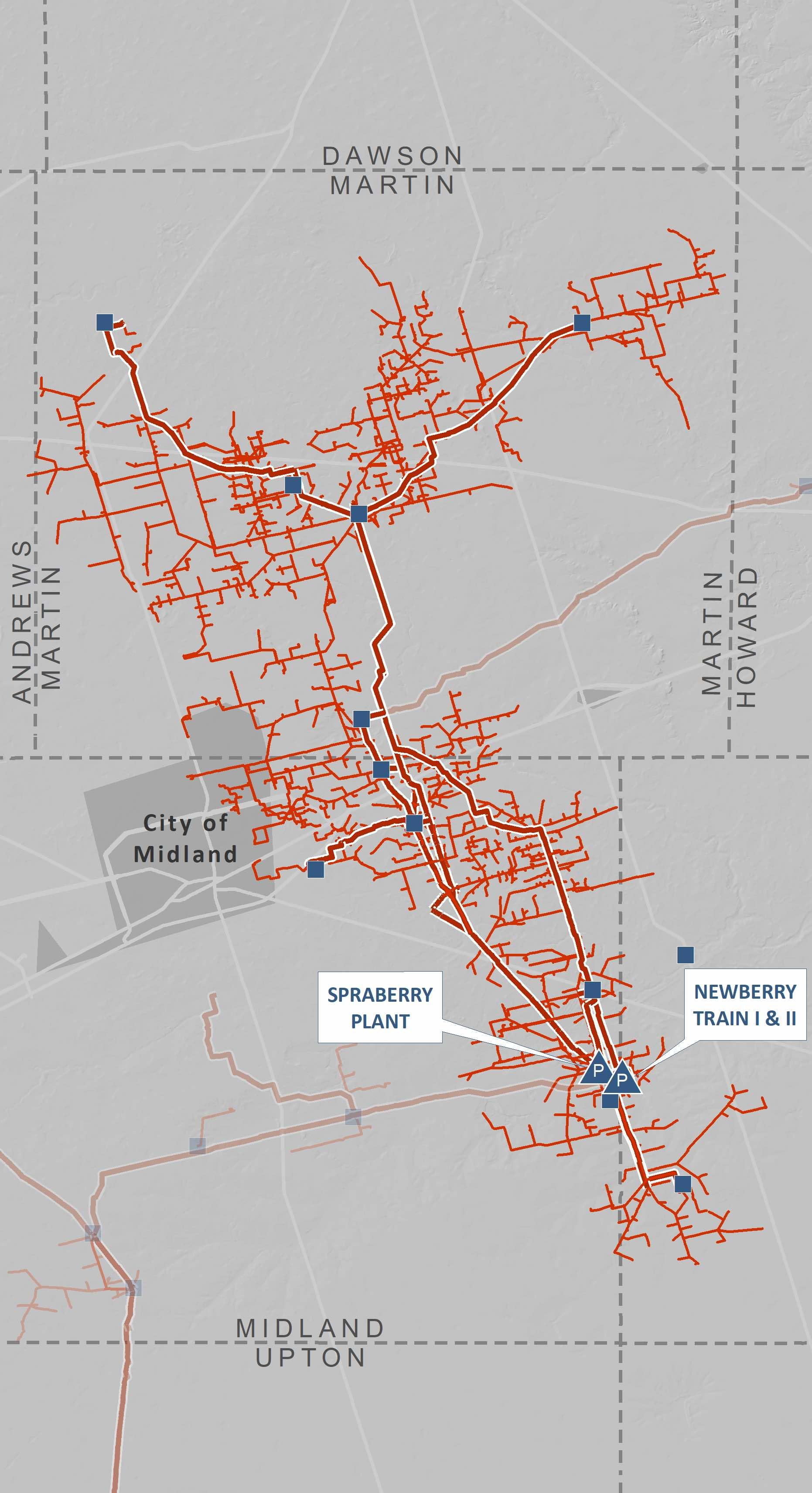 Spraberry/newberry Processing Complex | Navitas Midstream - Oneok Pipeline Map Texas