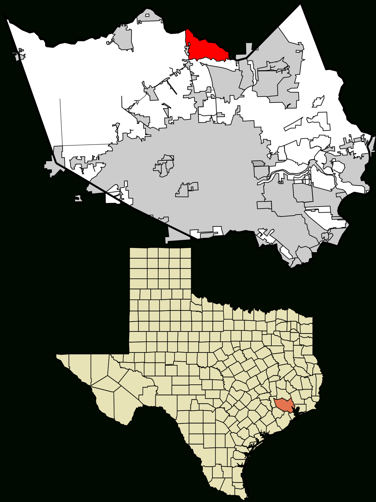 Spring, Texas - Wikipedia - Big Spring Texas Map