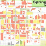 Springfield (Missouri) Downtown Map   Printable Map Of Springfield Mo