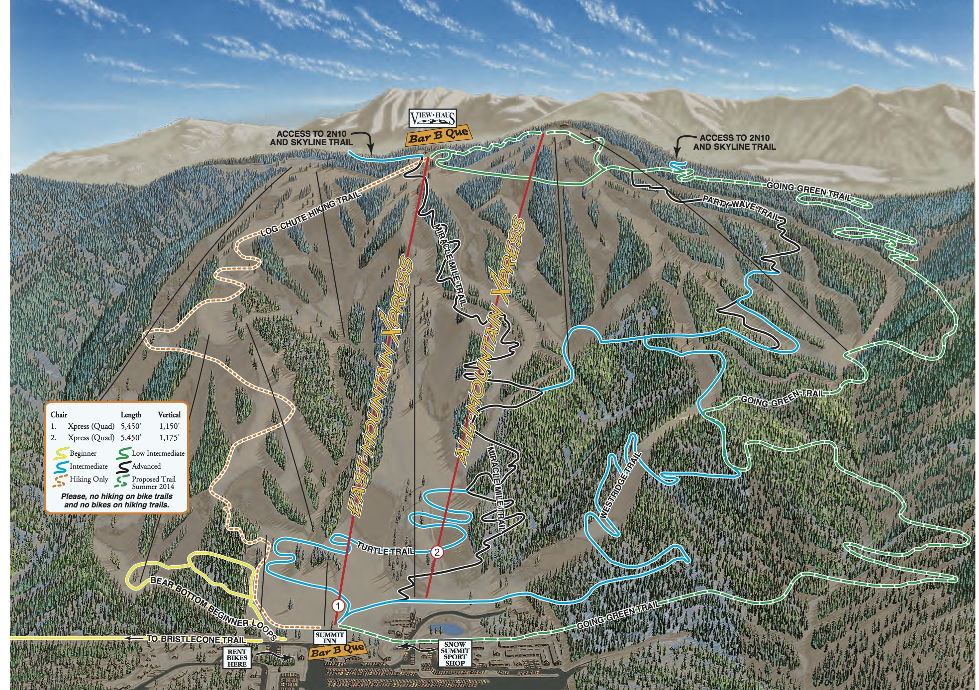 Ss Area Bike Hike Map Best Maps Bear Mountain California Map - Klipy - Big Bear Mountain Map California