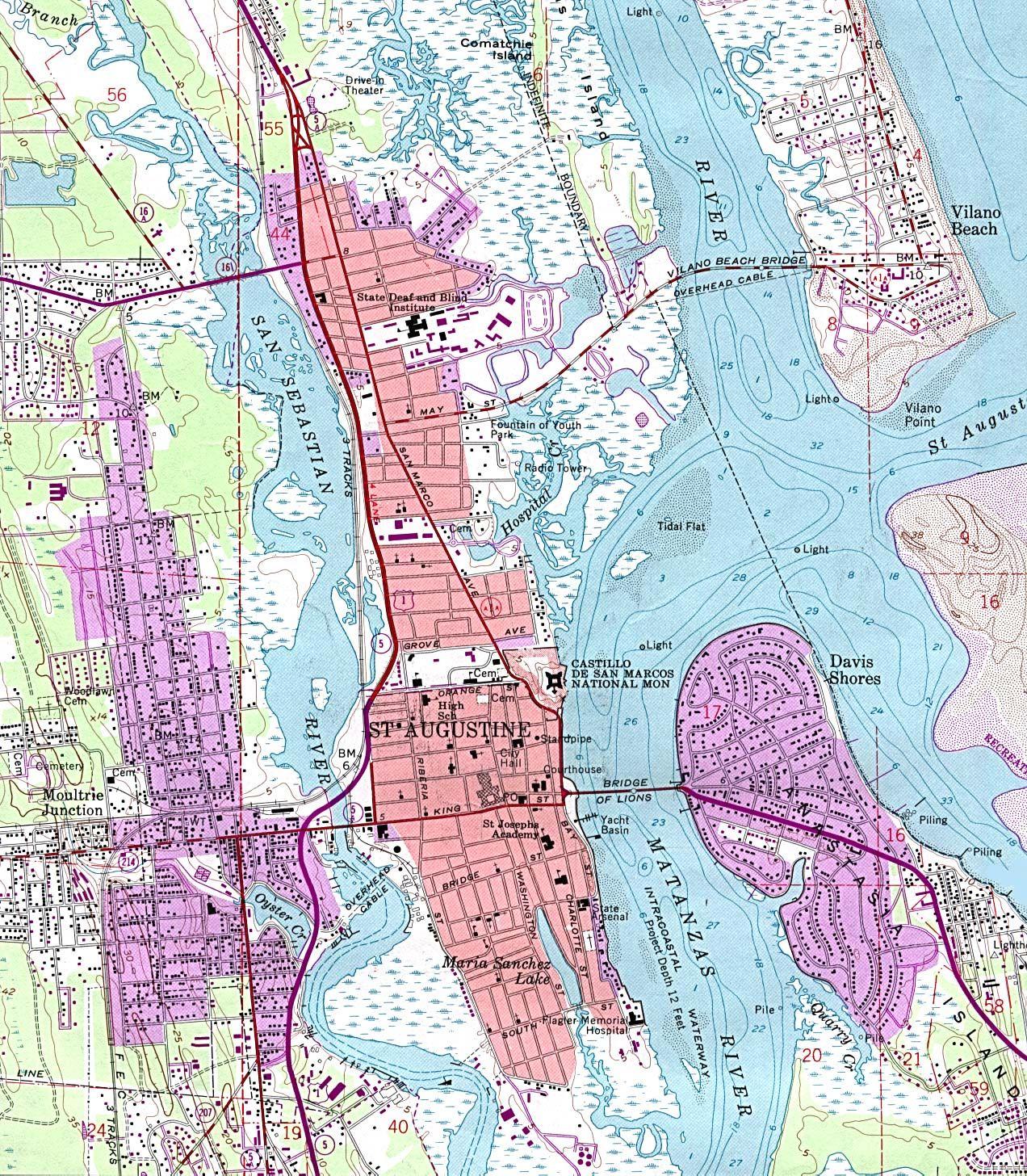 St Augustine Florida | St. Augustine, Florida History | Florida - St Augustine Florida Map