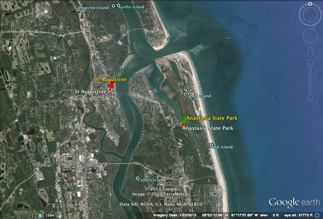 St. Augustine – Homeless And Loving It! - Google Maps St Augustine Florida