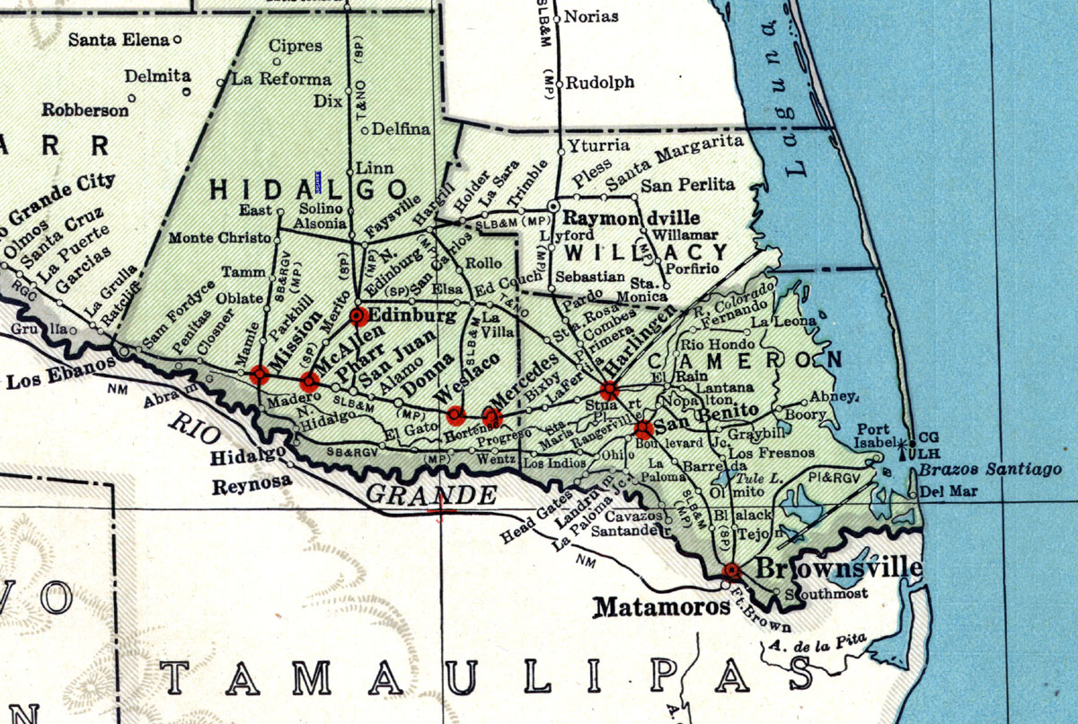 St. Louis, Brownsville & Mexico Railway Company (Tex.), Map Showing - Map Of Brownsville Texas Area