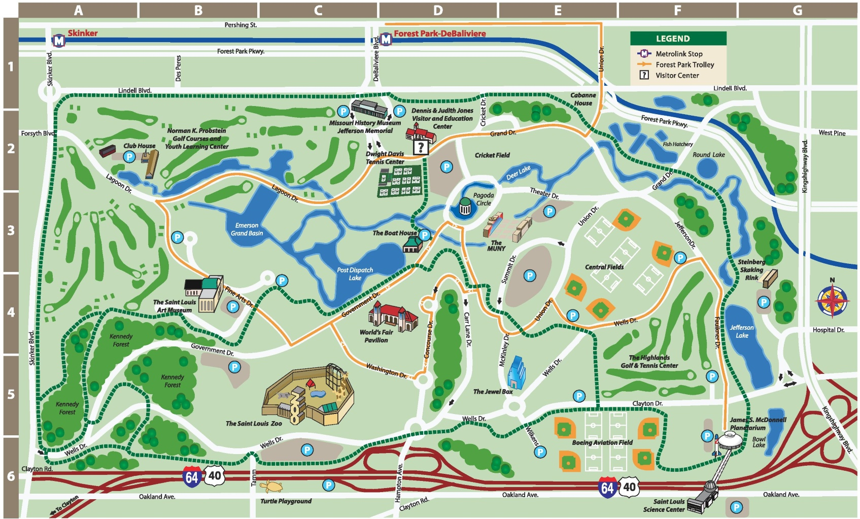 St. Louis Forest Park Map - Forest Park St Louis Map Printable