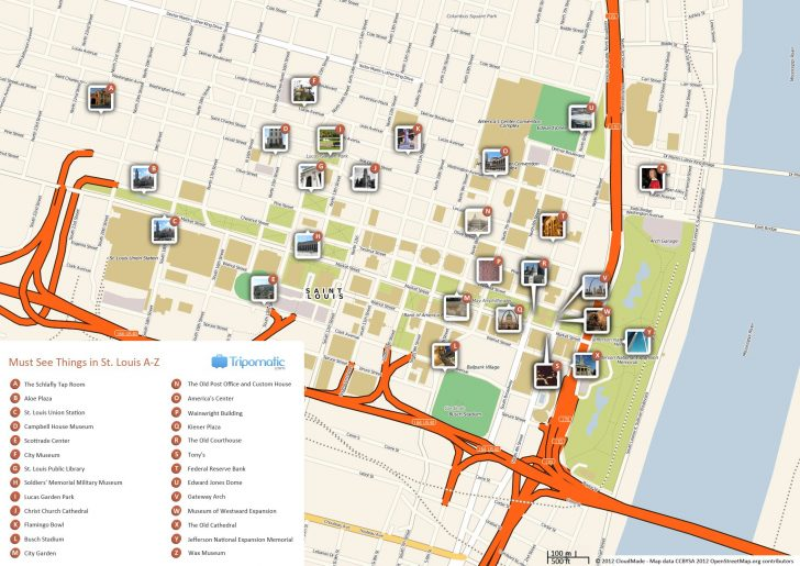 Forest Park St Louis Map Printable