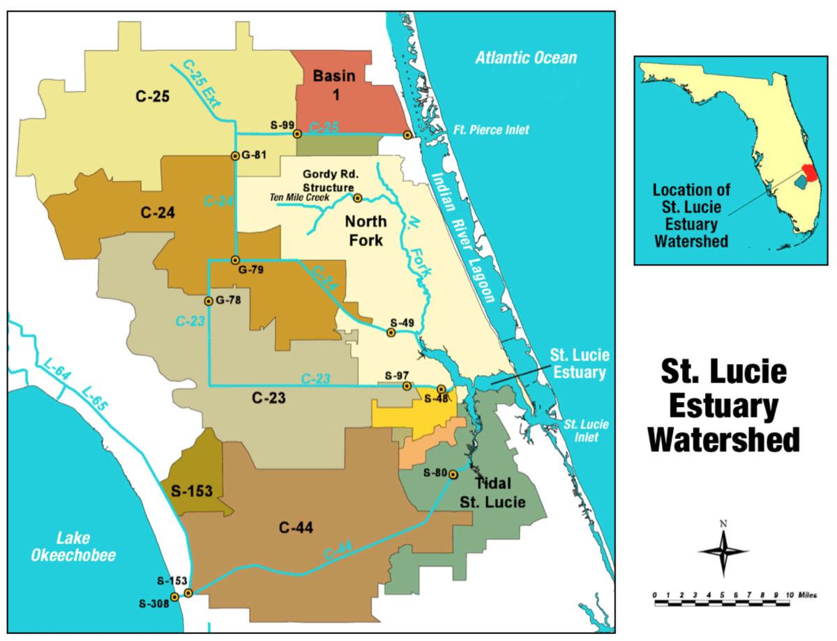 St. Lucie River - Wikipedia - Silver River Florida Map