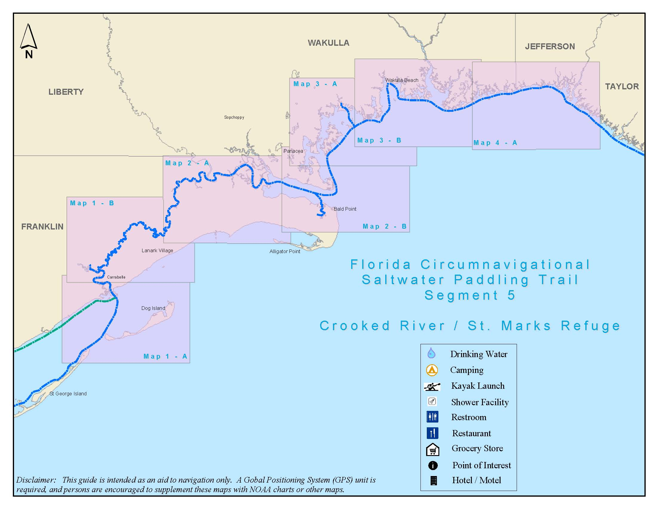 St. Marks National Wildlife Refuge | Fish And Wildlife Service - Alligator Point Florida Map