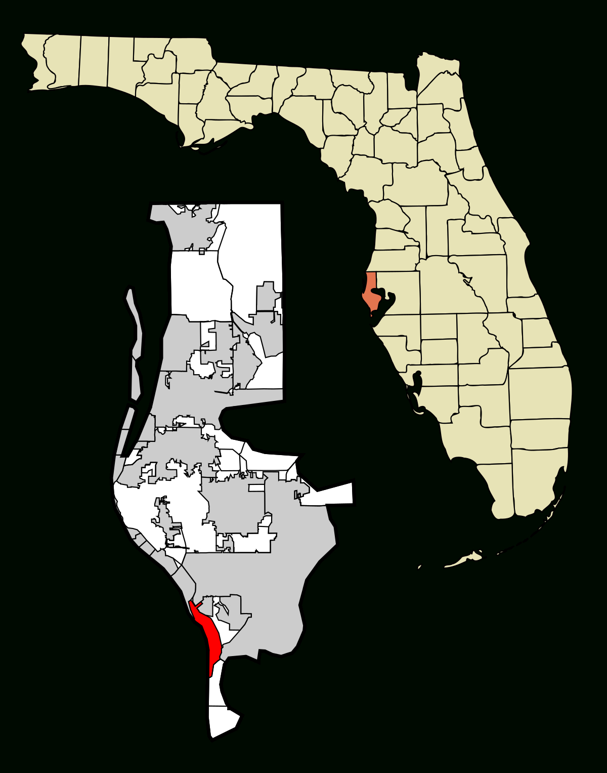 St. Pete Beach, Florida - Wikipedia - St Pete Beach Florida Map
