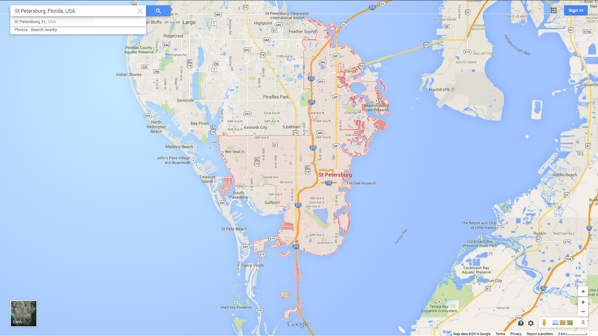 St. Petersburg, Florida Map - St Pete Florida Map