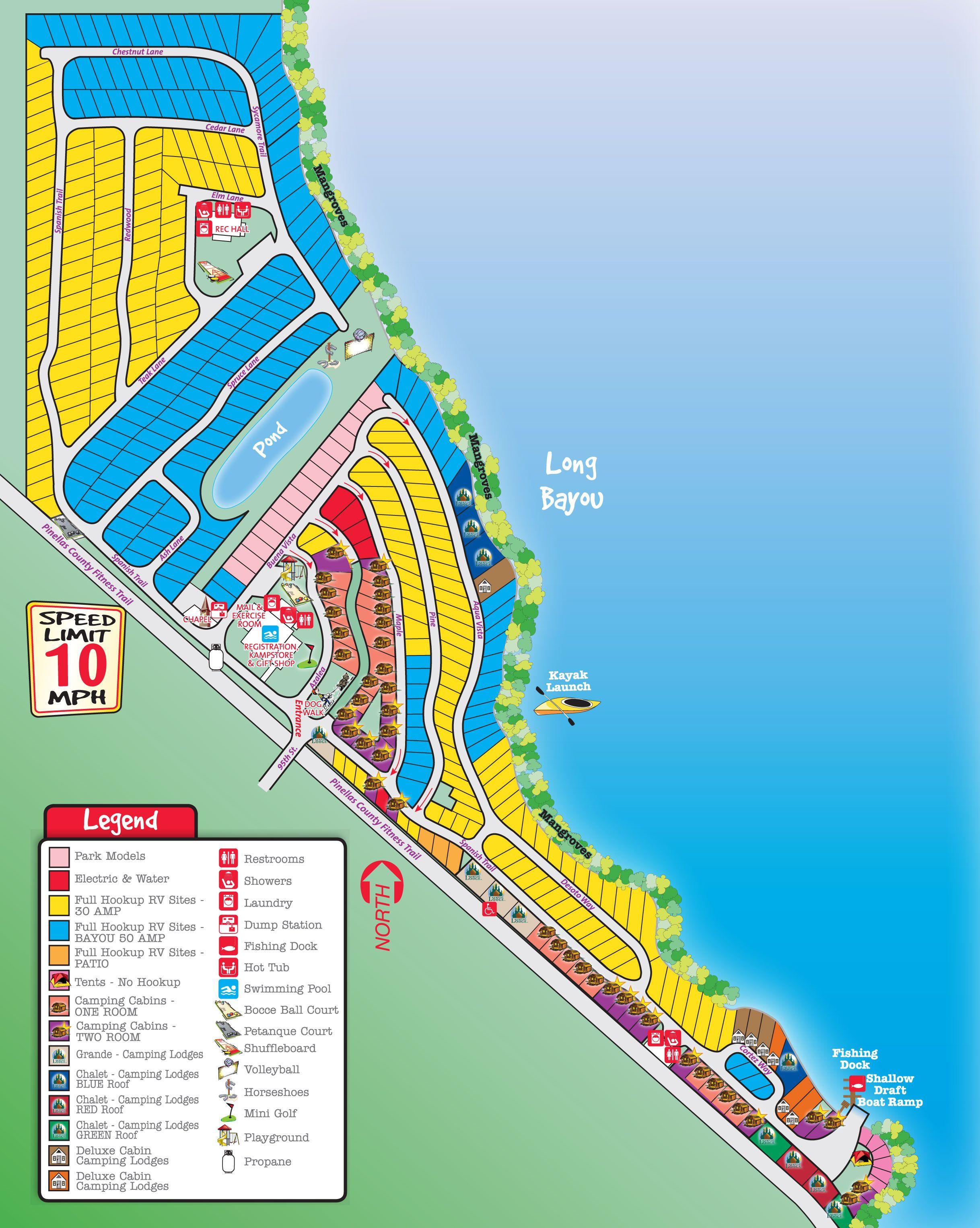 St. Petersburg / Madeira Beach Koa Campsites Start At $51.50 Per - Florida Camping Map