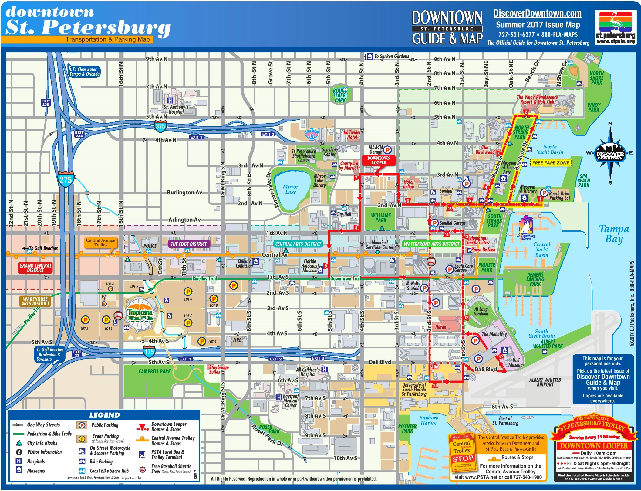 St. Petersburg Tourist Map - St Petersburg Florida Map