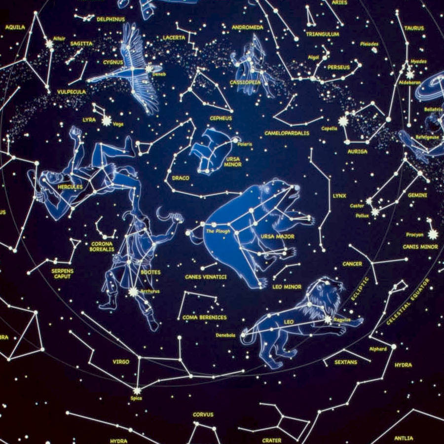 Star Map Glow In The Dark Printmaps International - Printable Star Map