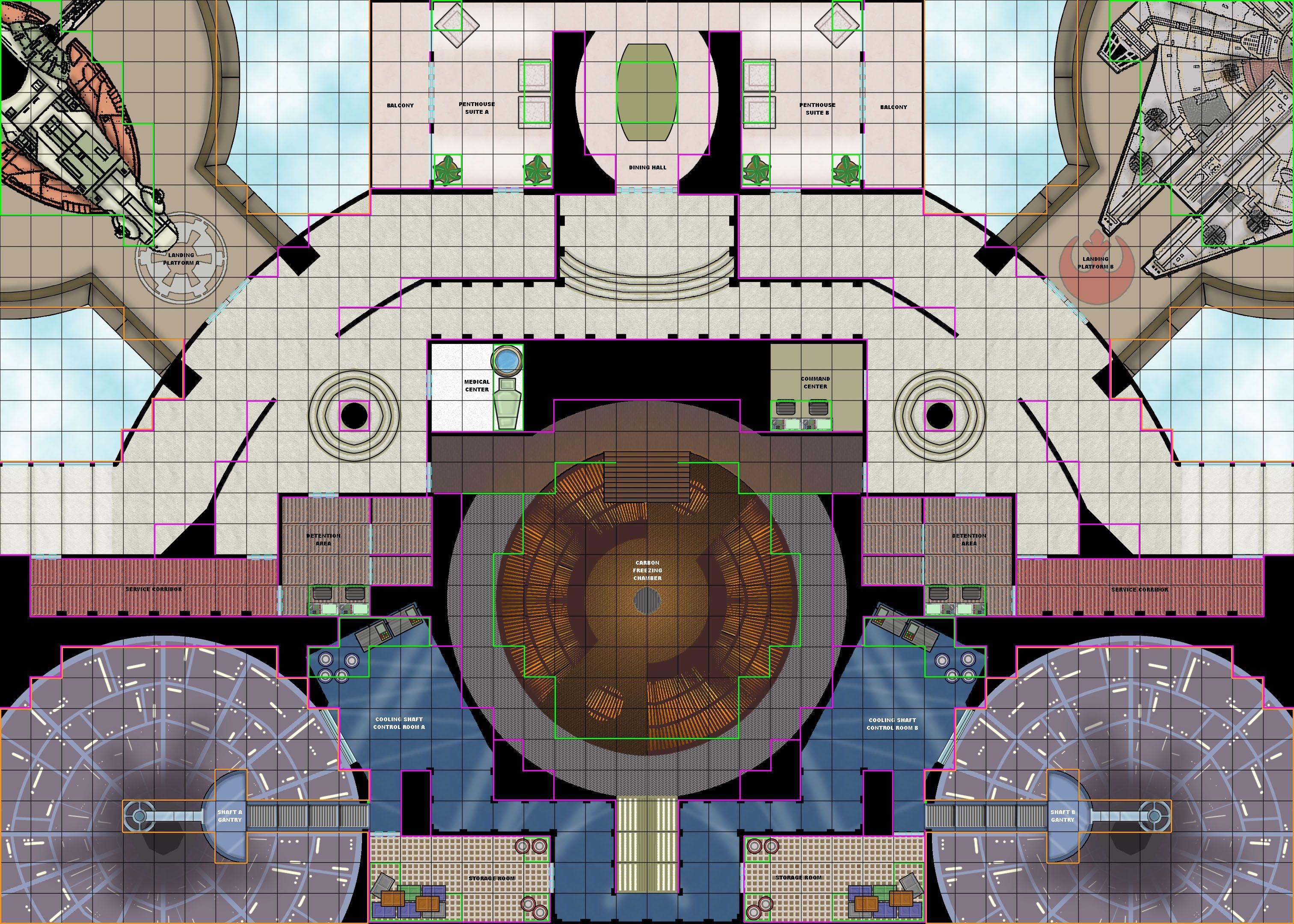 Star Wars Rpg Maps | Cloud City Tile Set C | Star Wars | Pinterest - Star Wars Miniatures Printable Maps