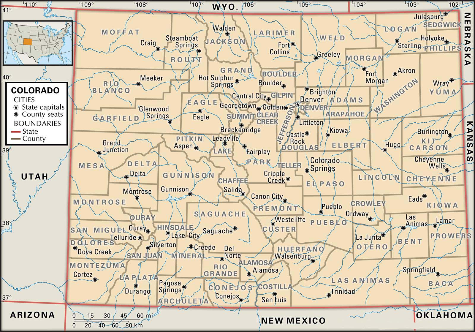 State And County Maps Of Colorado - Printable Road Map Of Colorado