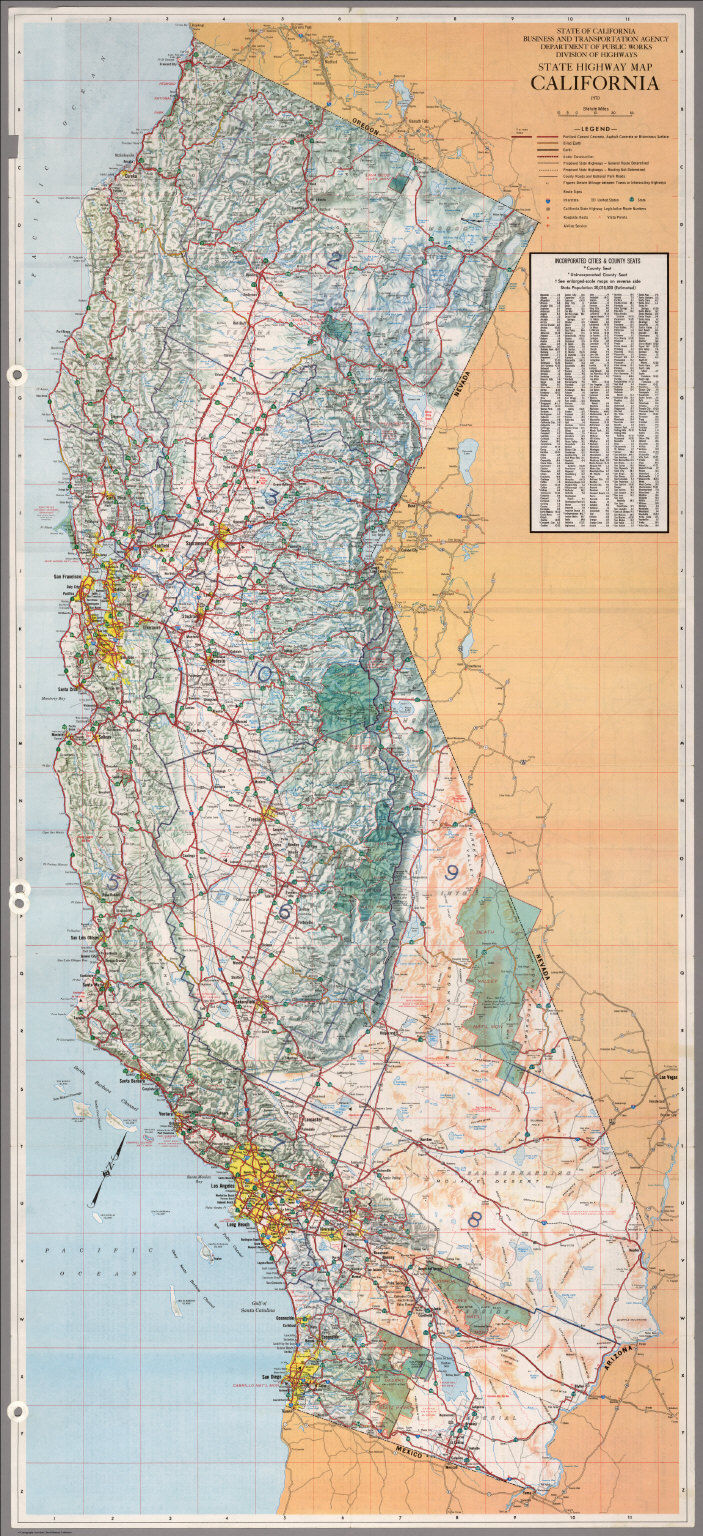 State Highway Map, California, 1970. - David Rumsey Historical Map - California Atlas Map