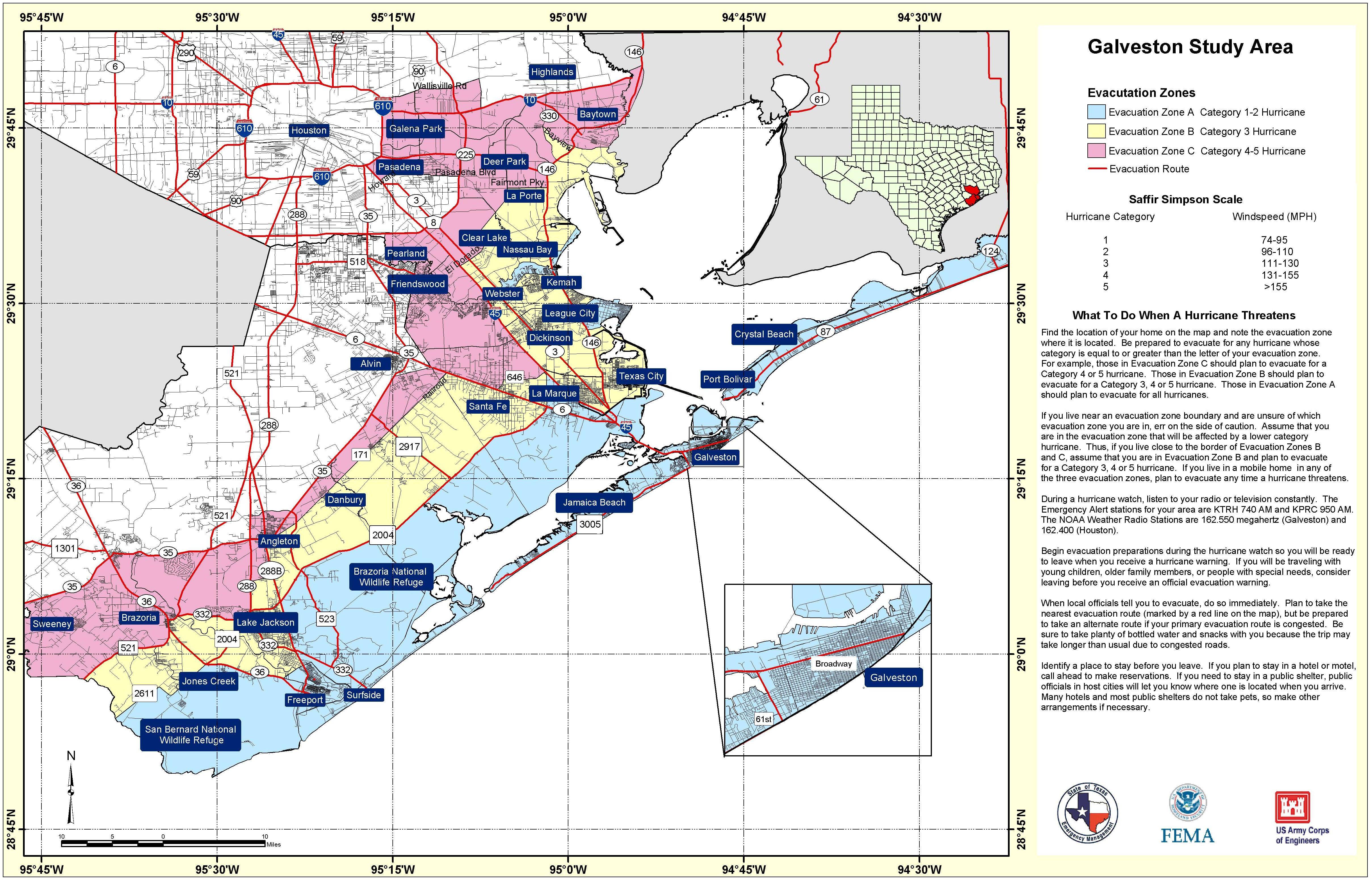 State Level Maps - Yoakum County Texas Map