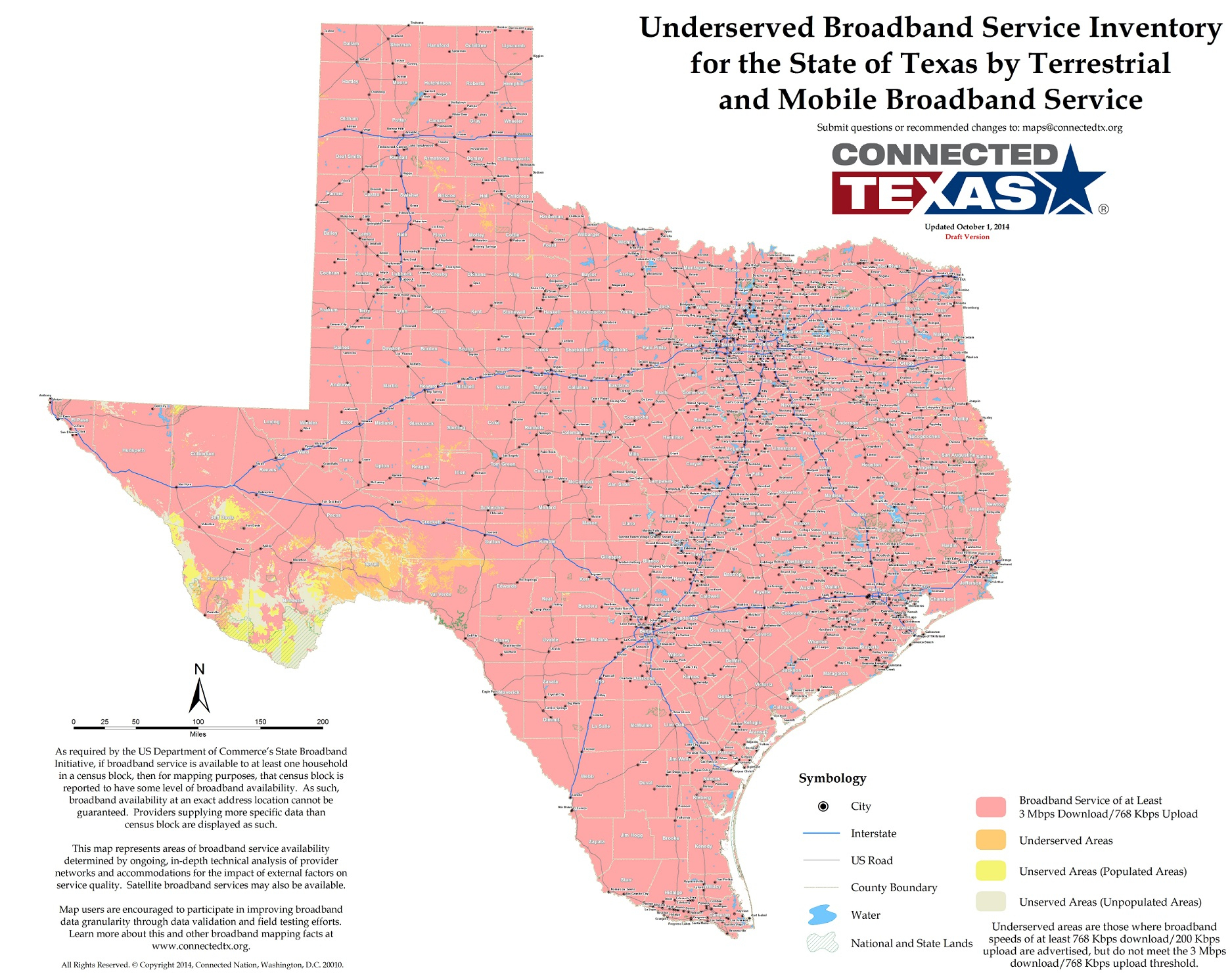 State Mapping | Connected Texas - Texas Broadband Map