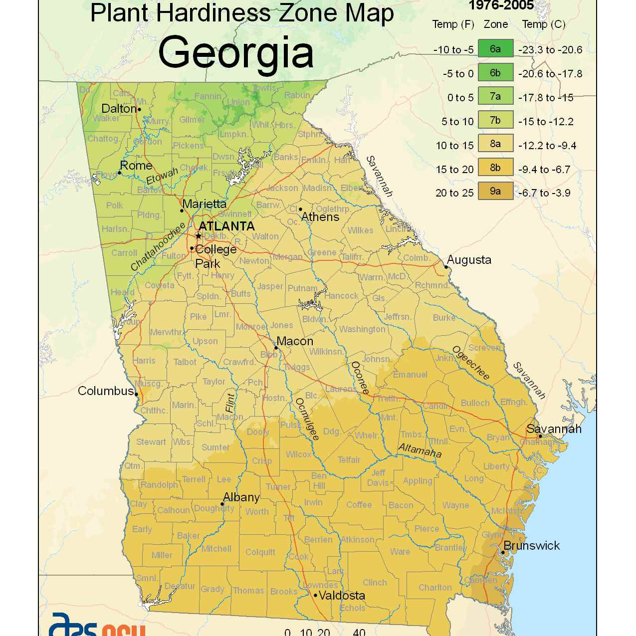 State Maps Of Usda Plant Hardiness Zones - Florida Growing Zones Map