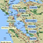 State Of California Map With Cities And Counties New California Map   Map Of Bay Area California Cities