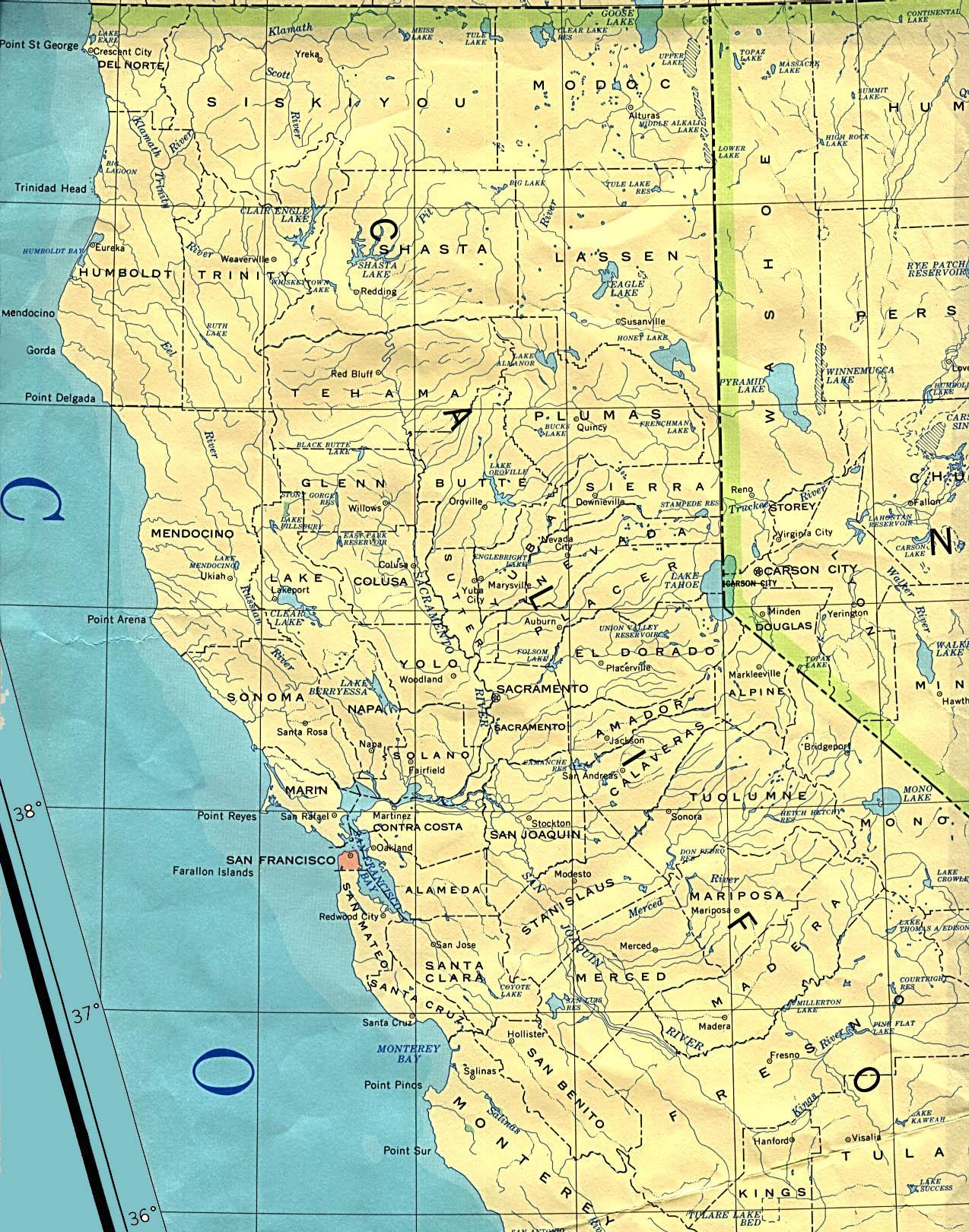 Statemaster - Maps Of California (57 In Total) - California Atlas Map