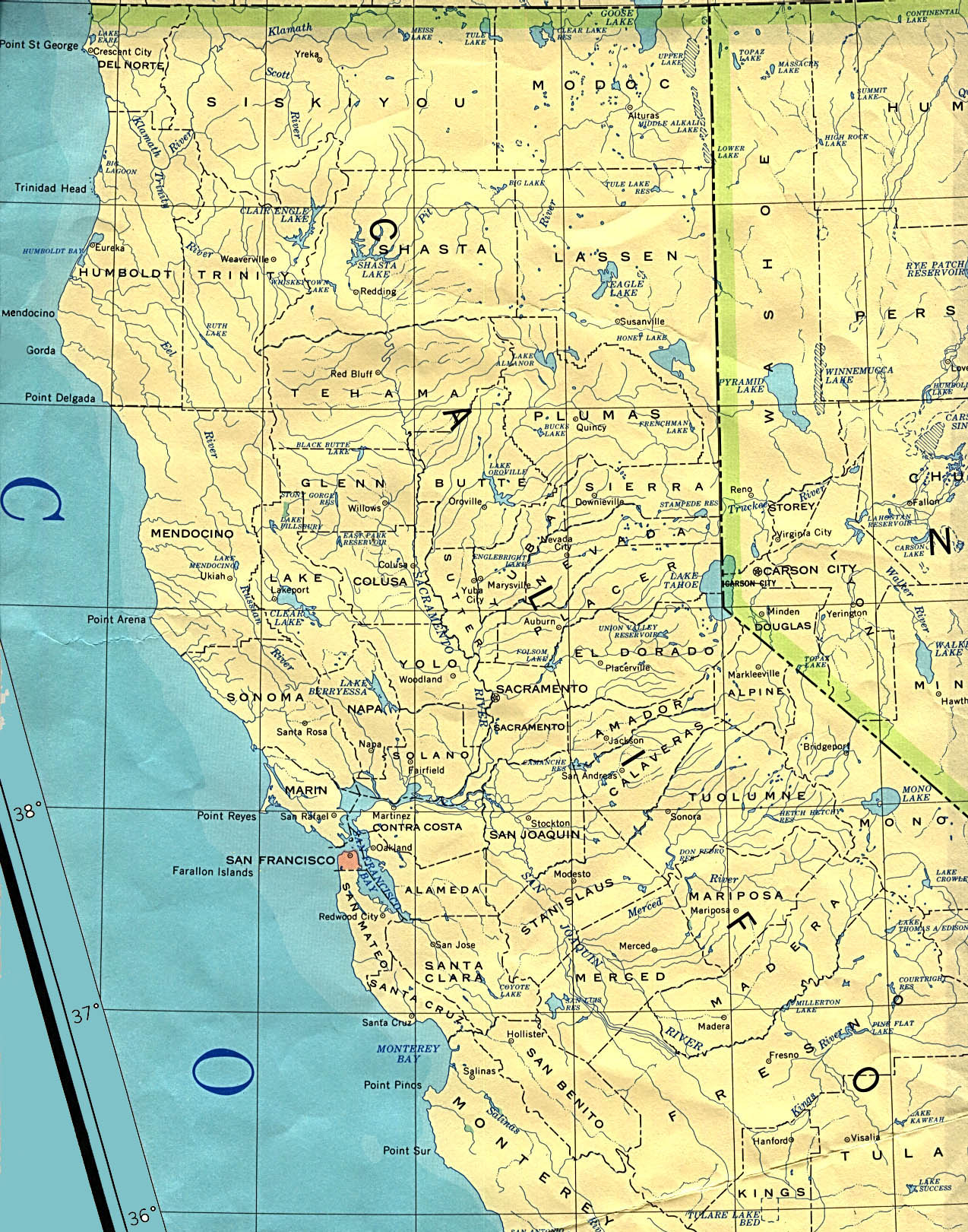 Statemaster - Maps Of California (57 In Total) - Show Map Of California
