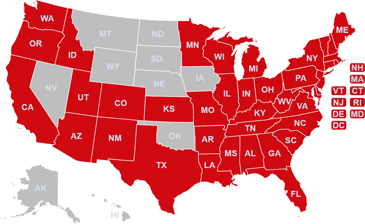 States Map With Cities. Comcast Coverage Map - States Map With Cities - Comcast Coverage Map California