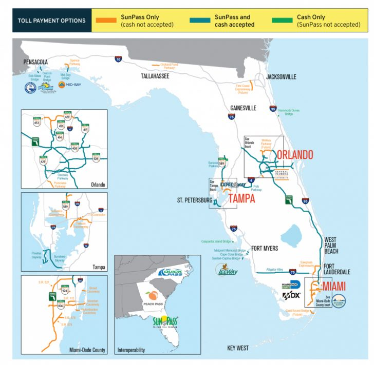 Florida Road Map 2018