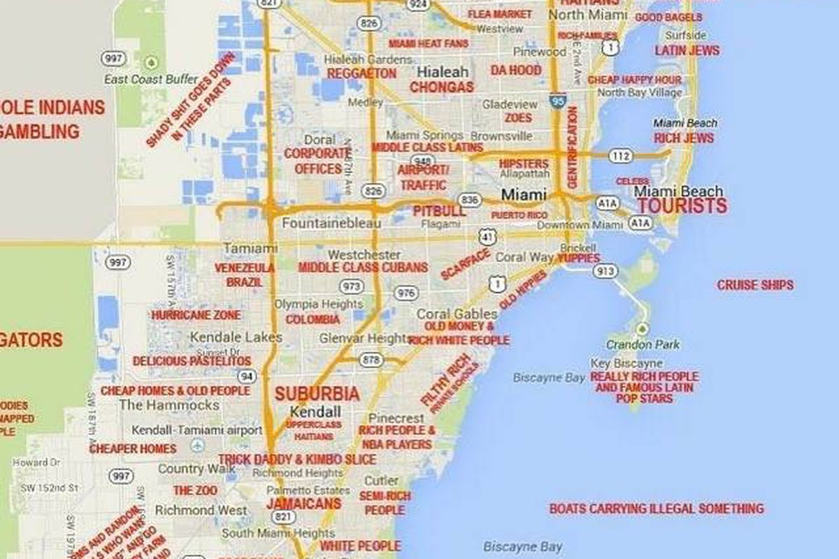 States Map With Cities. Map Miami - States Map With Cities - Coconut Grove Florida Map