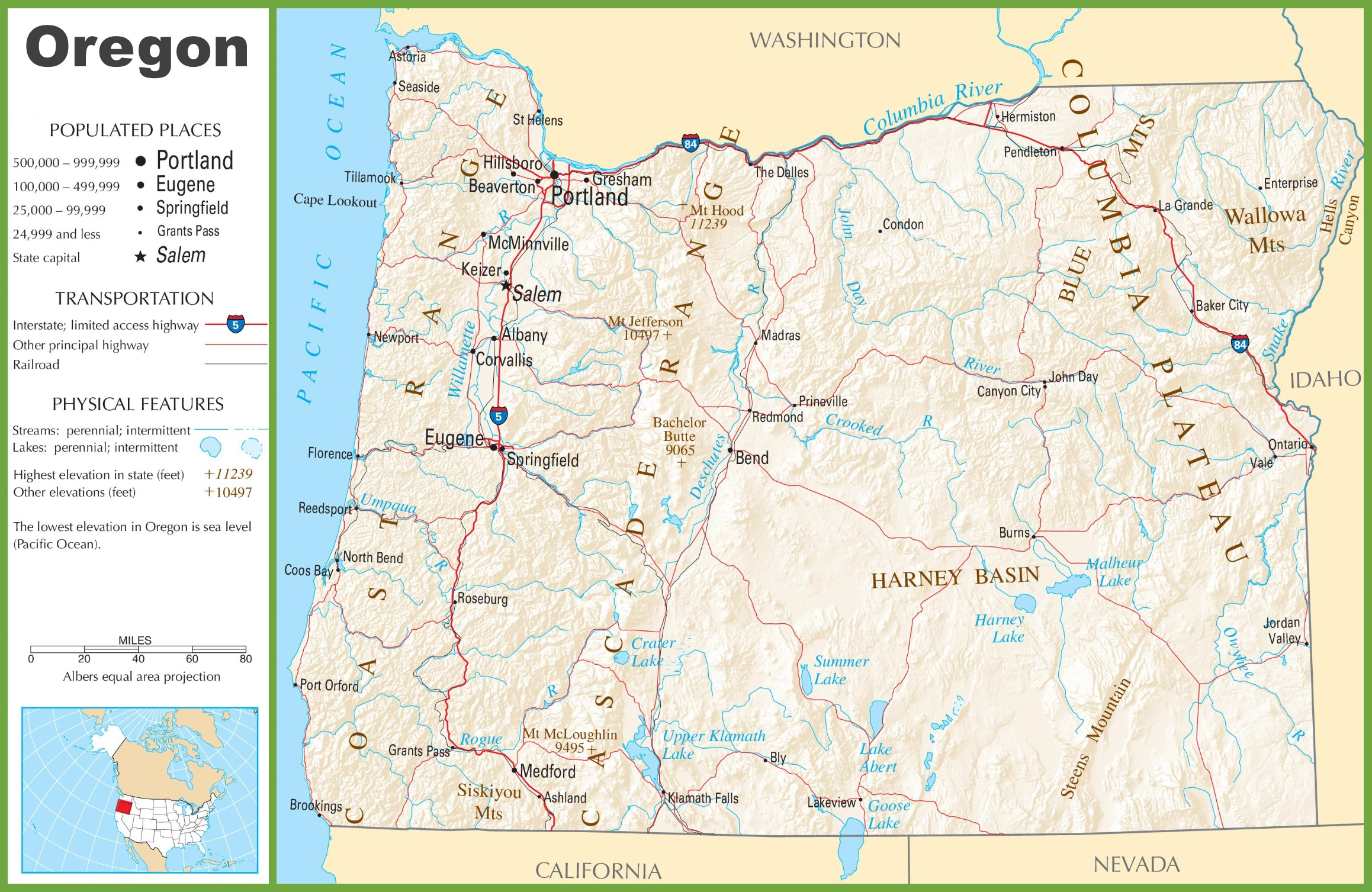 States Map With Cities. Printable Maps Of Oregon - States Map With - Oregon Road Map Printable