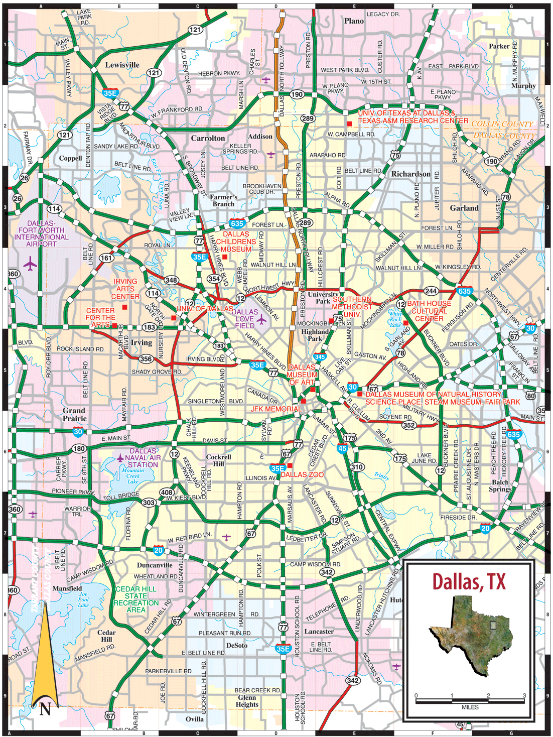 States Map With Cities. Texas Road Map Printable - States Map With - Texas Road Map 2018
