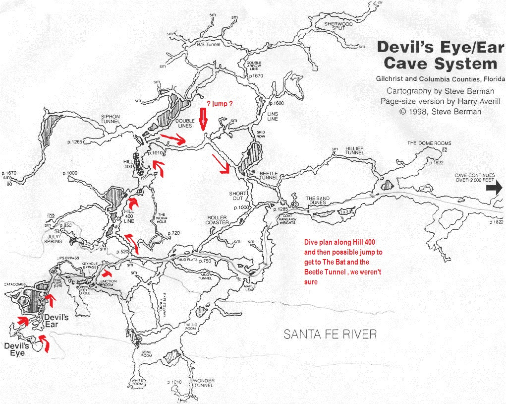States Of Immersion - A Florida Cave Diving Adventure: Ginnie - Florida Springs Diving Map