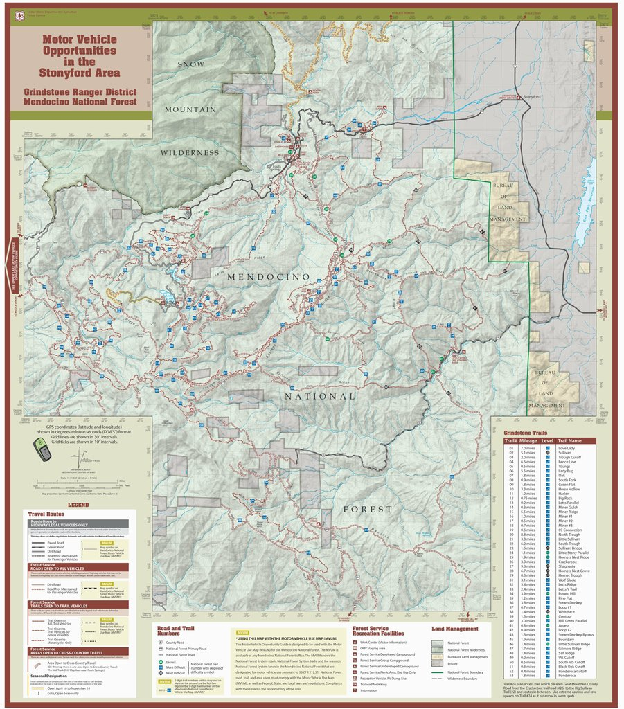 Stonyford Ohv Trails - Maplets - California Ohv Map